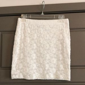 Mini White Lace Skirt